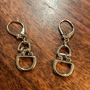 Lever back silver earrings